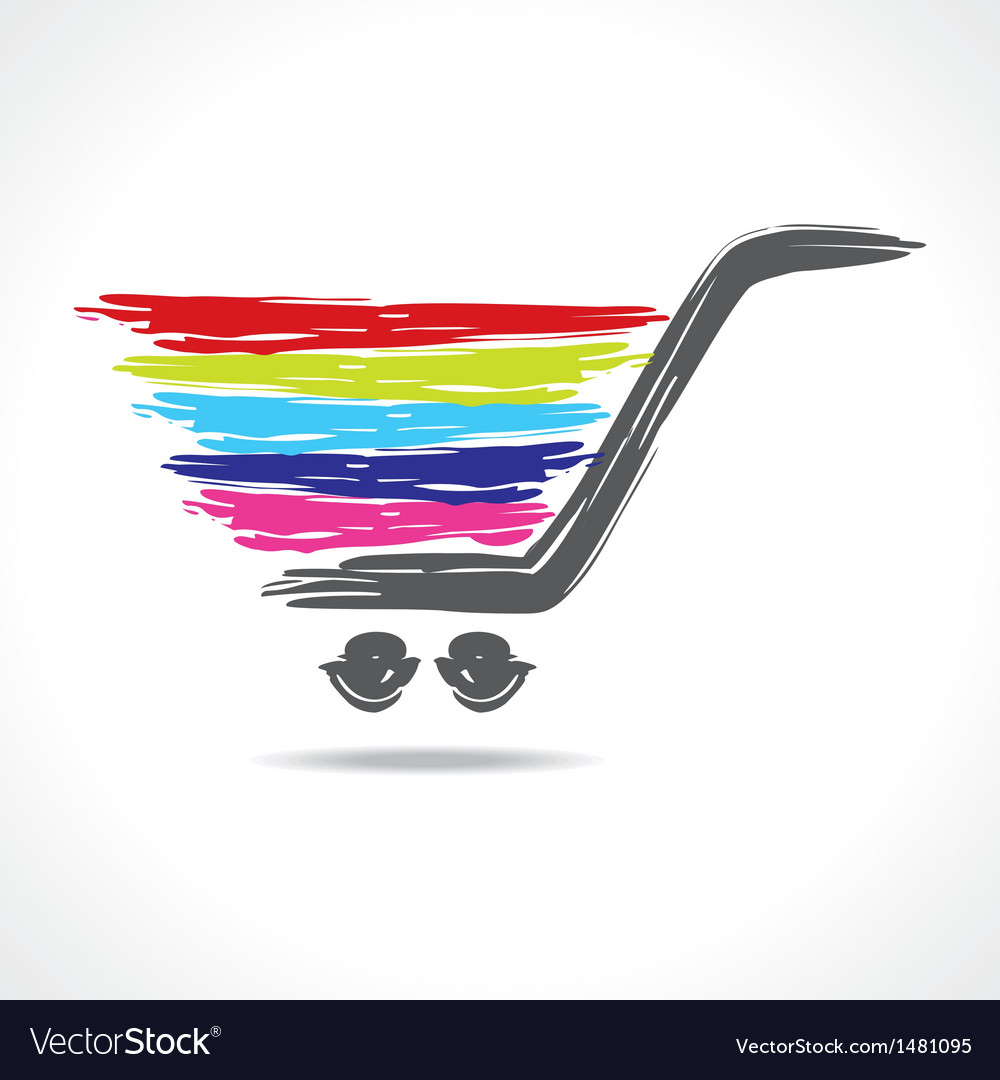 A paint shopping cart vector | Price: 1 Credit (USD $1)