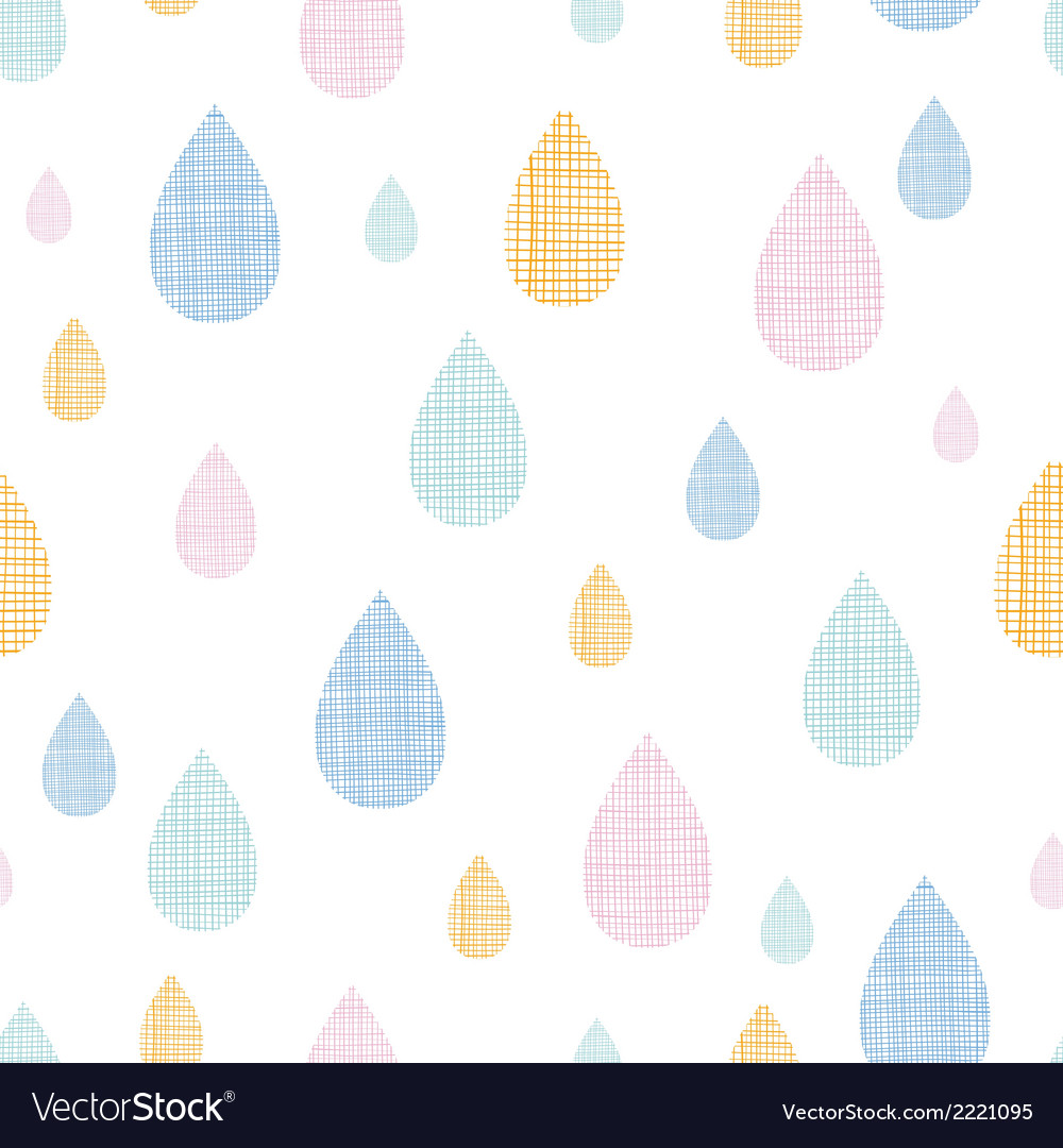Abstract textile colorful rain drops seamless vector | Price: 1 Credit (USD $1)