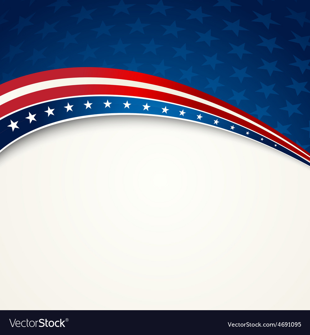 American flag patriotic background vector | Price: 1 Credit (USD $1)