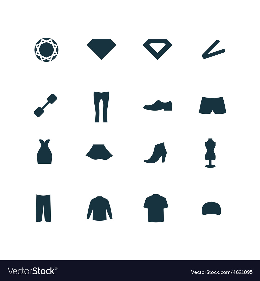 Beauty glamour icons set vector | Price: 1 Credit (USD $1)