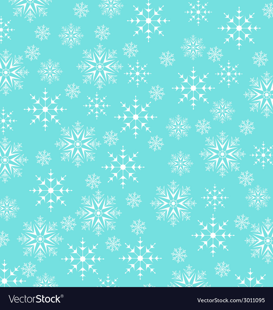 Christmas blue wallpaper snowflakes texture vector | Price: 1 Credit (USD $1)