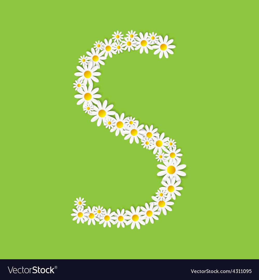 Flora daisy design alphabet vector | Price: 1 Credit (USD $1)