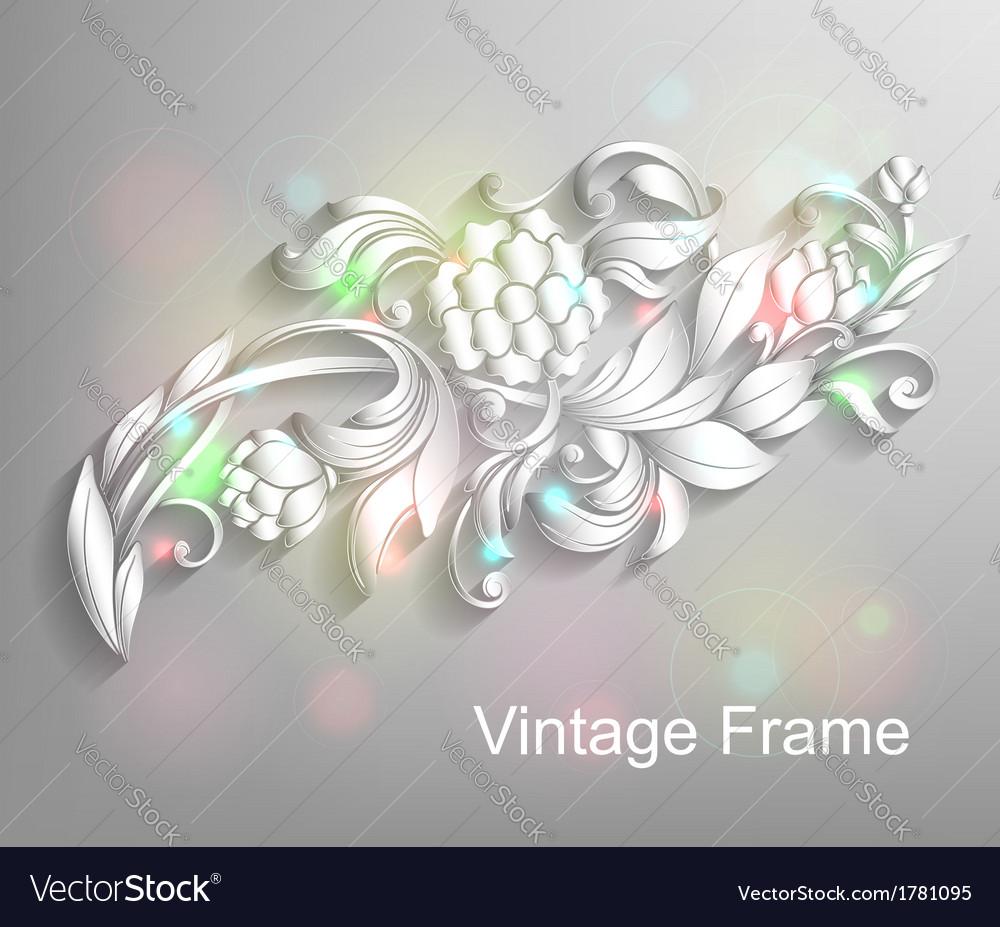 Floral design element vector | Price: 1 Credit (USD $1)