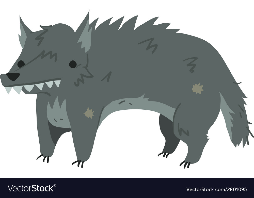 Funny cartoon wolf mascot vector | Price: 1 Credit (USD $1)
