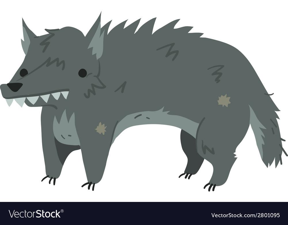 Funny cartoon wolf mascot vector | Price: 1 Credit (USD $1)