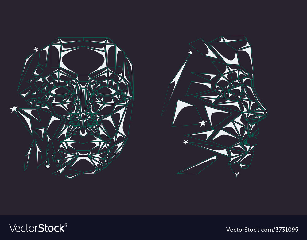 Glass robot face vector | Price: 1 Credit (USD $1)