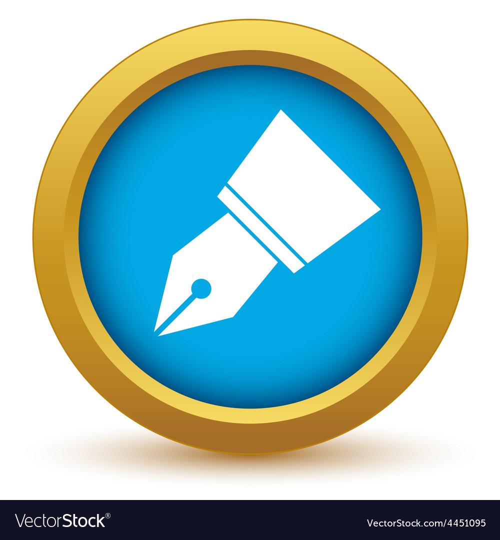 Gold pen icon vector | Price: 1 Credit (USD $1)