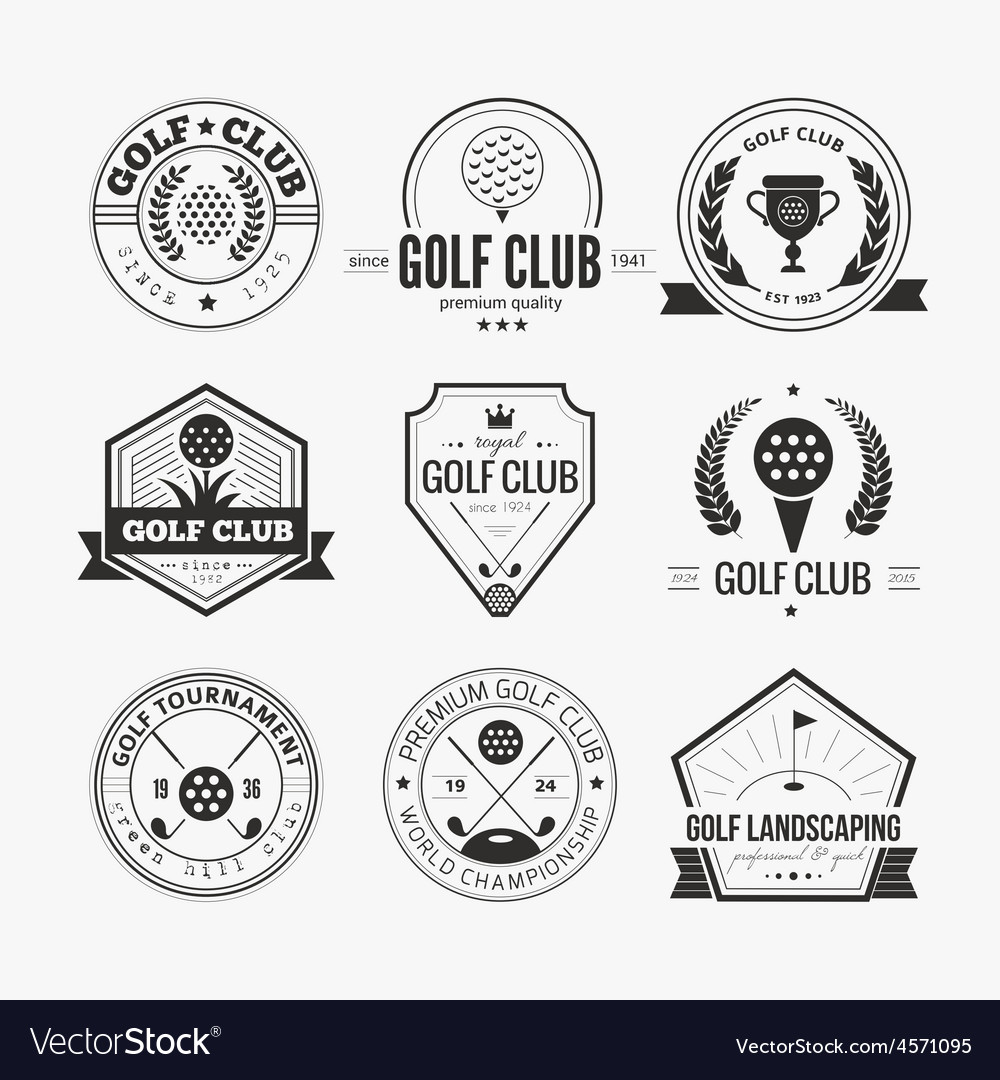 Golf club logo vector