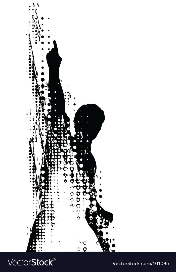 Grunge man vector | Price: 1 Credit (USD $1)
