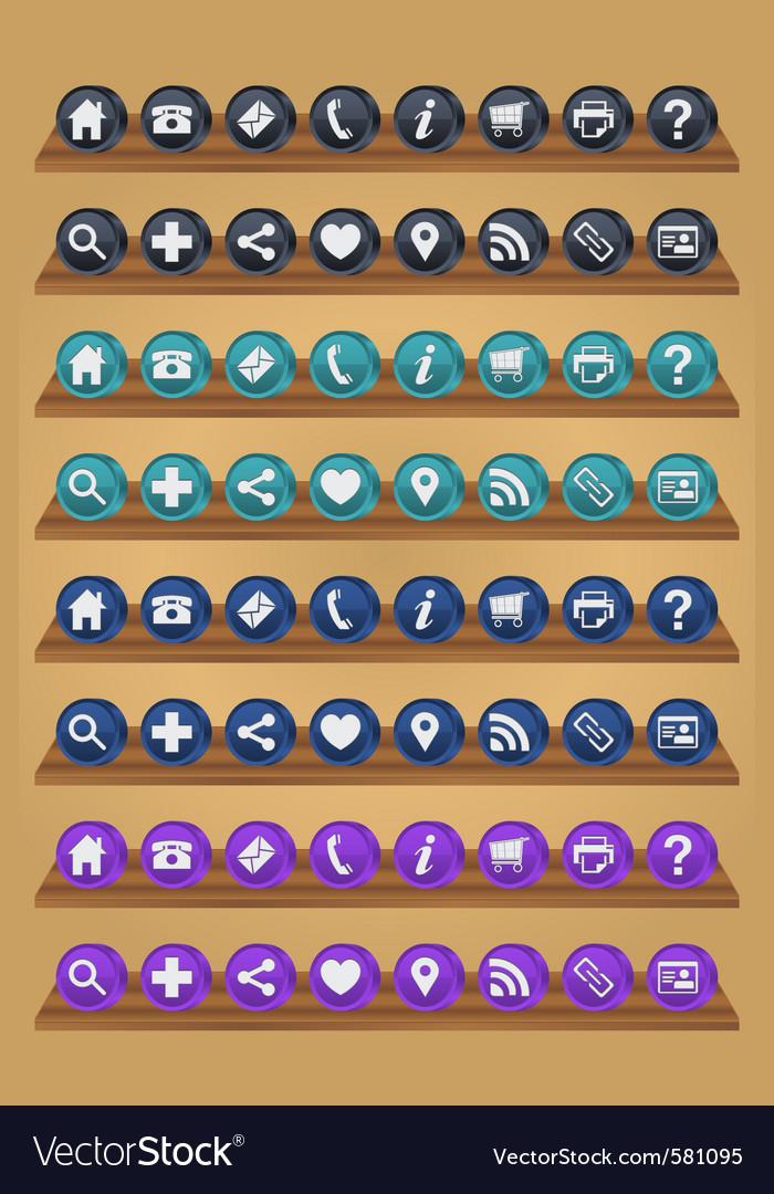 Internet icons vector | Price: 1 Credit (USD $1)