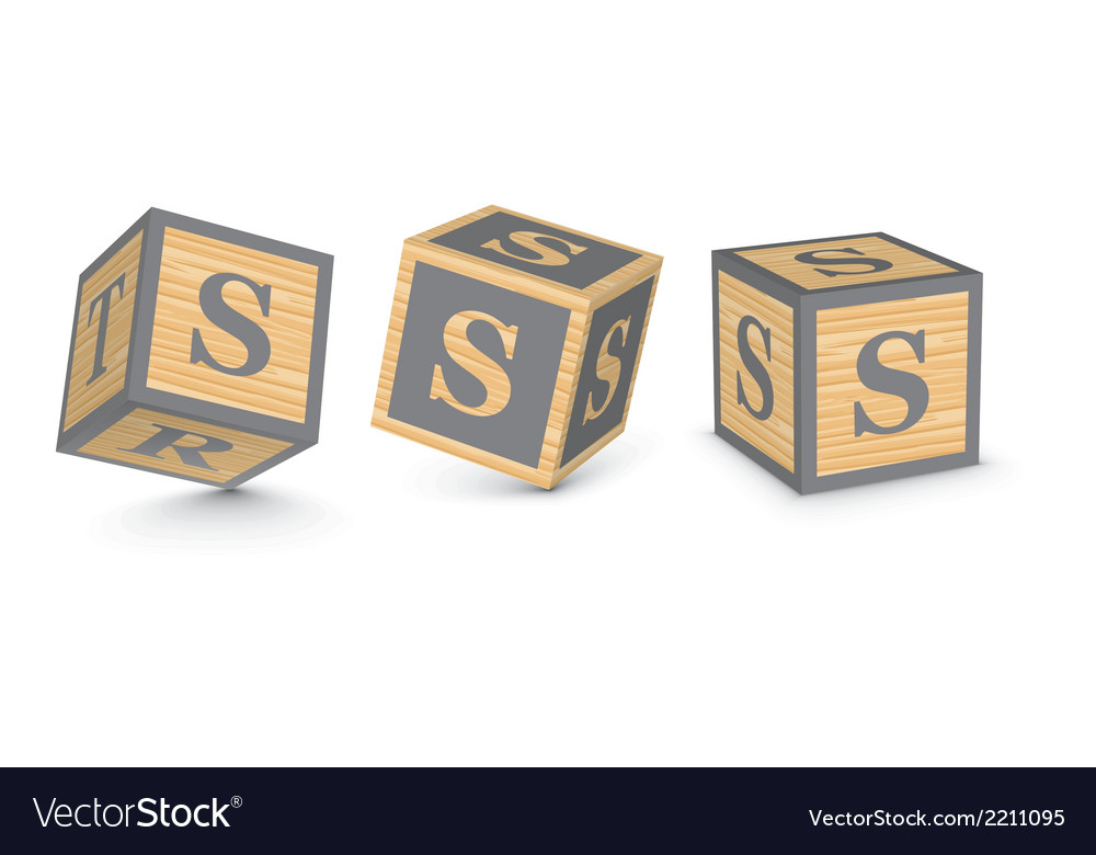 Letter s wooden alphabet blocks vector | Price: 1 Credit (USD $1)
