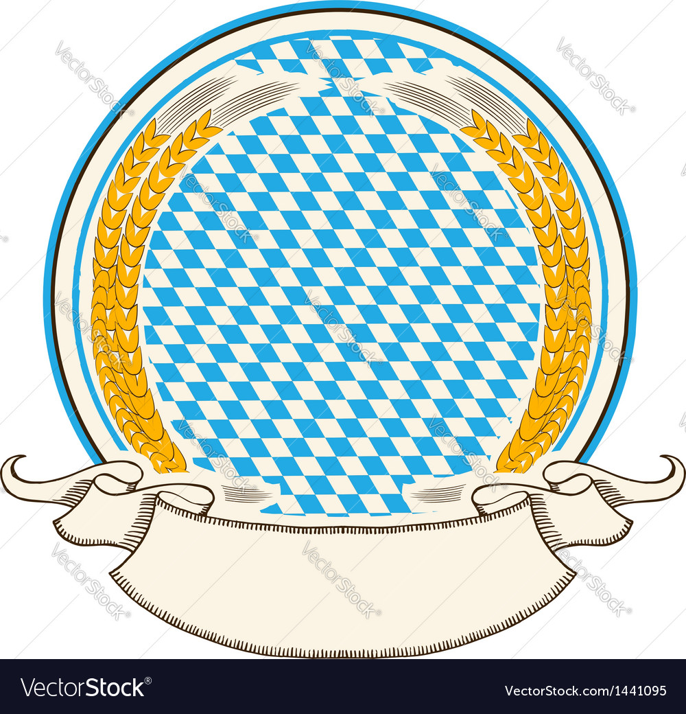 Oktoberfest label bavaria flag background with vector | Price: 1 Credit (USD $1)