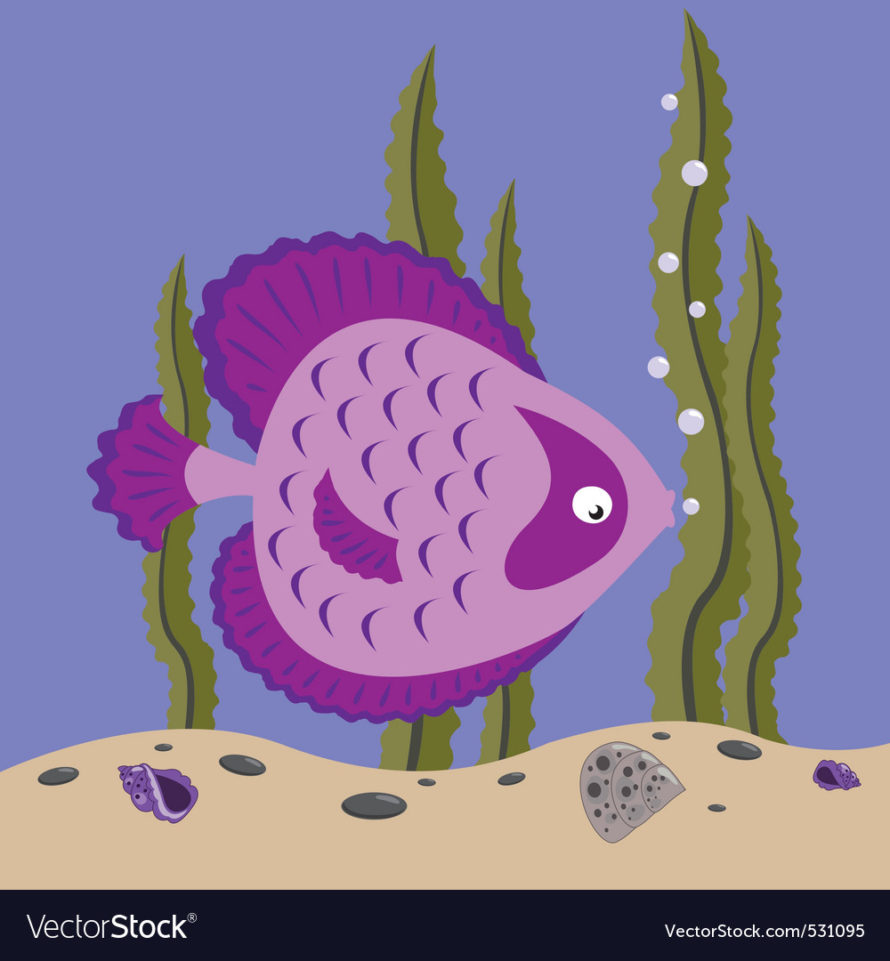 Pink fish vector | Price: 1 Credit (USD $1)