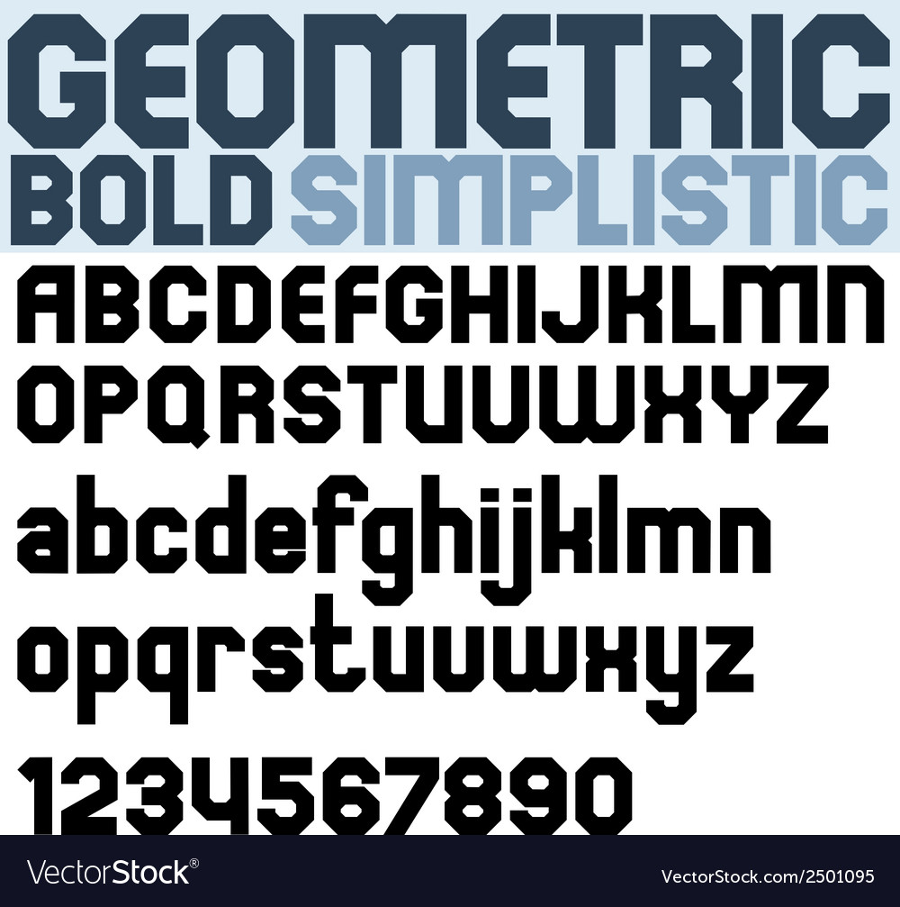 Poster black bold geometric font and numbers vector | Price: 1 Credit (USD $1)