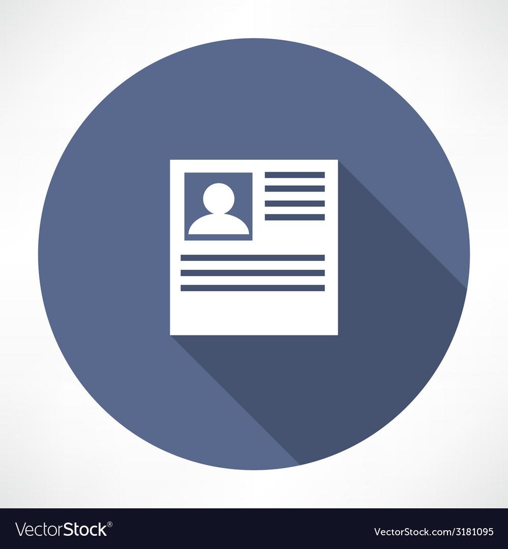 Resume icon vector   Price: 1 Credit (USD $1)
