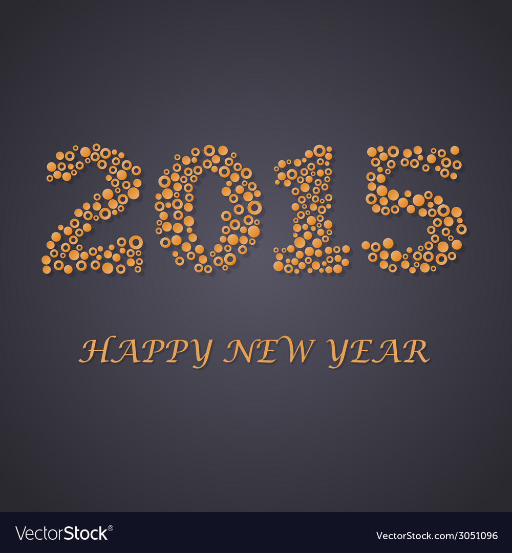 Abstract background from circles new year 2015 vector | Price: 1 Credit (USD $1)