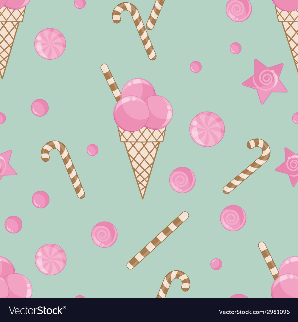 Candy seamless pattern background vector | Price: 1 Credit (USD $1)