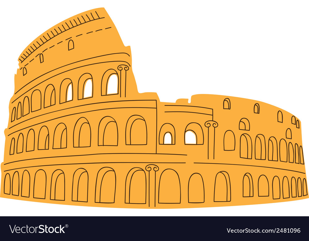 Colosseum isolated on white vector | Price: 1 Credit (USD $1)