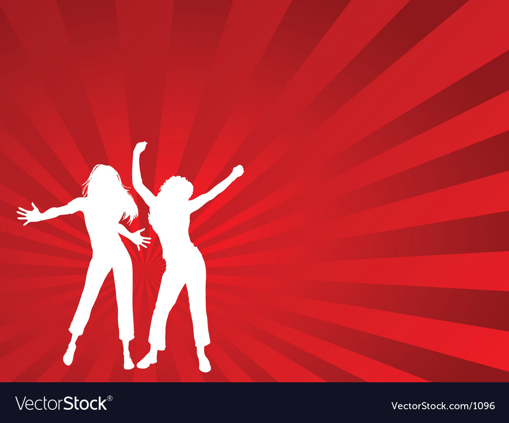 Dancing females vector | Price: 1 Credit (USD $1)