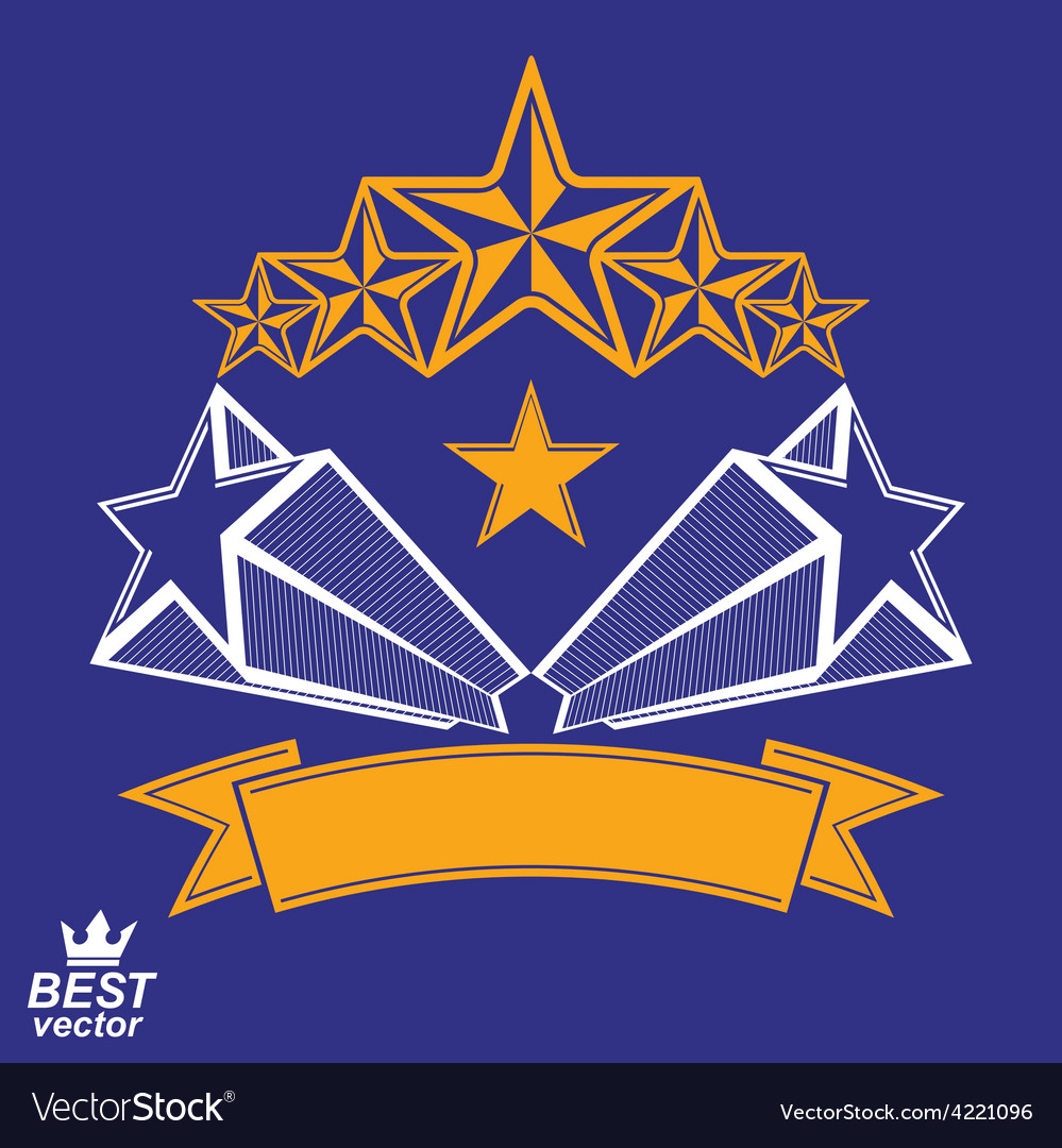 Detailed luxury 3d symbol monarch emblem vector   Price: 1 Credit (USD $1)