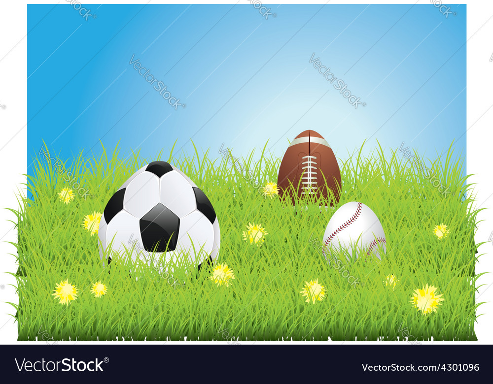Egg shaped sport balls3 vector | Price: 1 Credit (USD $1)
