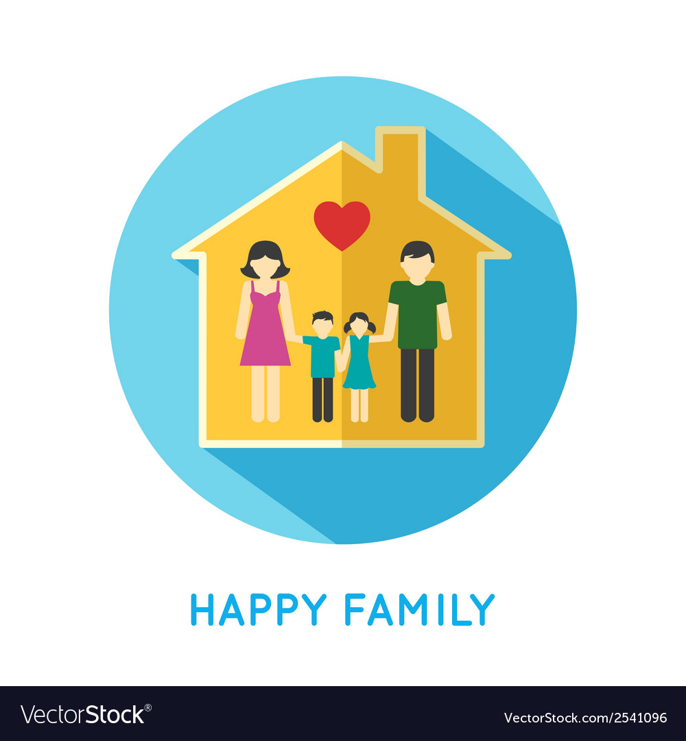 Family icon home vector | Price: 1 Credit (USD $1)