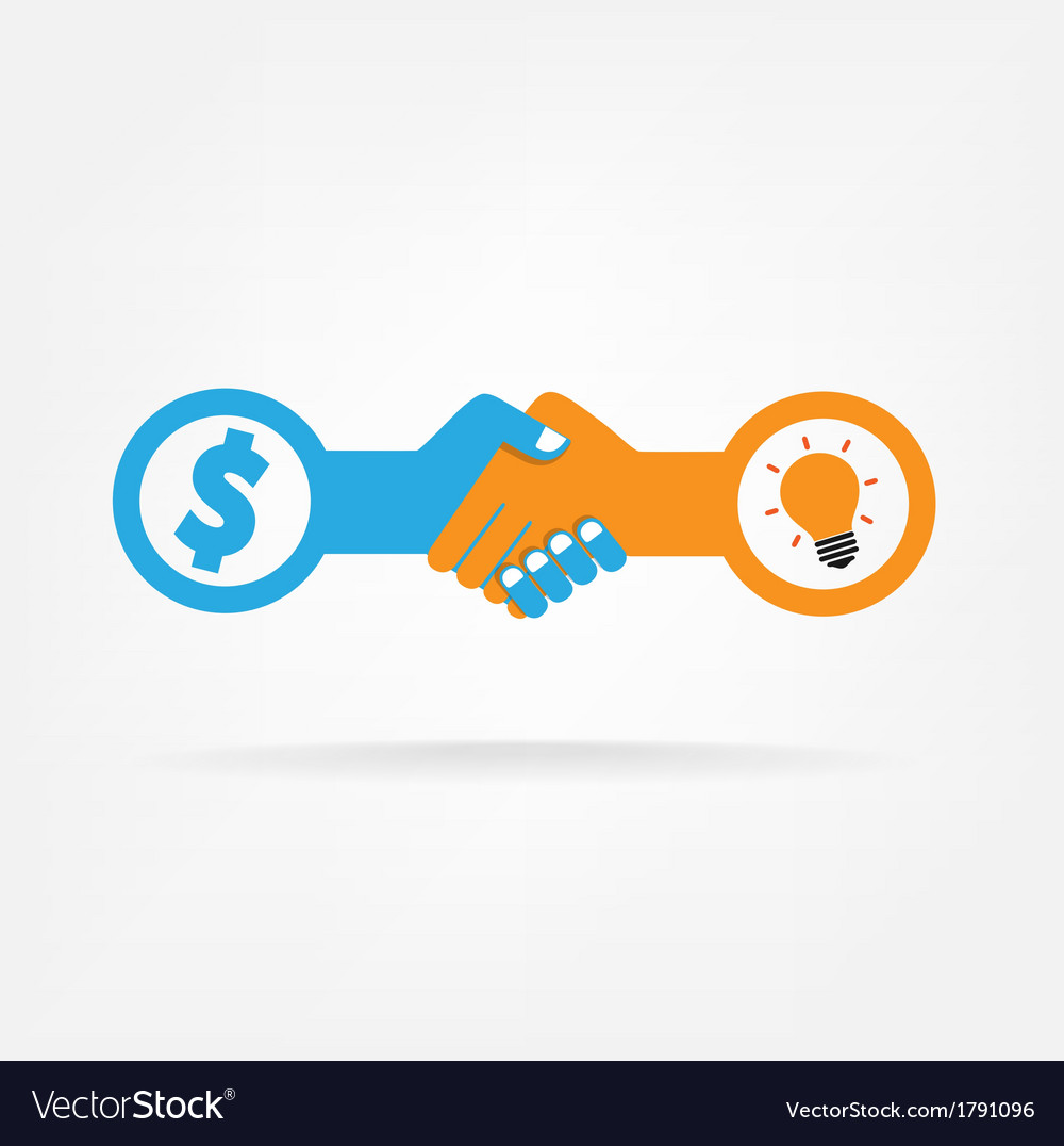 Handshake abstract sign vector   Price: 1 Credit (USD $1)