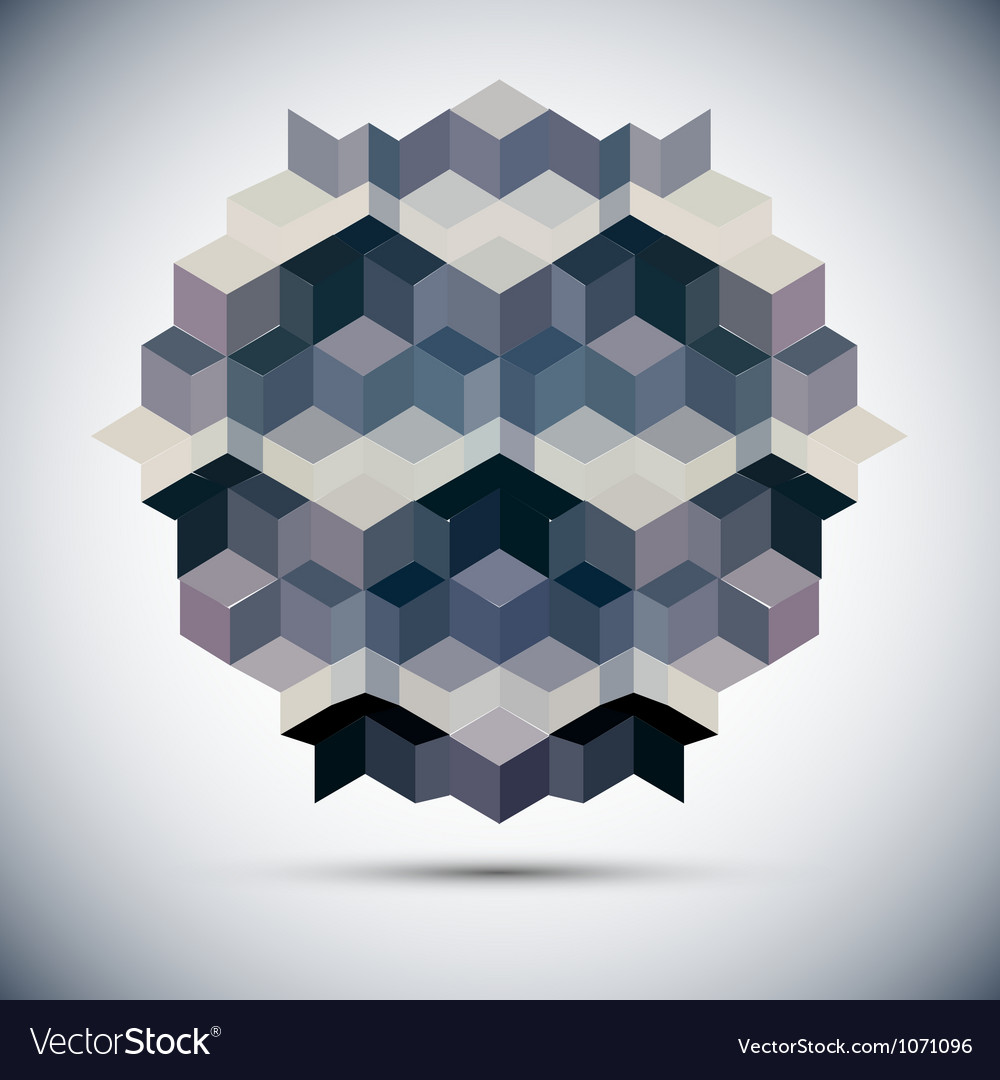 Hexagon kaleidoscope optical vector | Price: 1 Credit (USD $1)