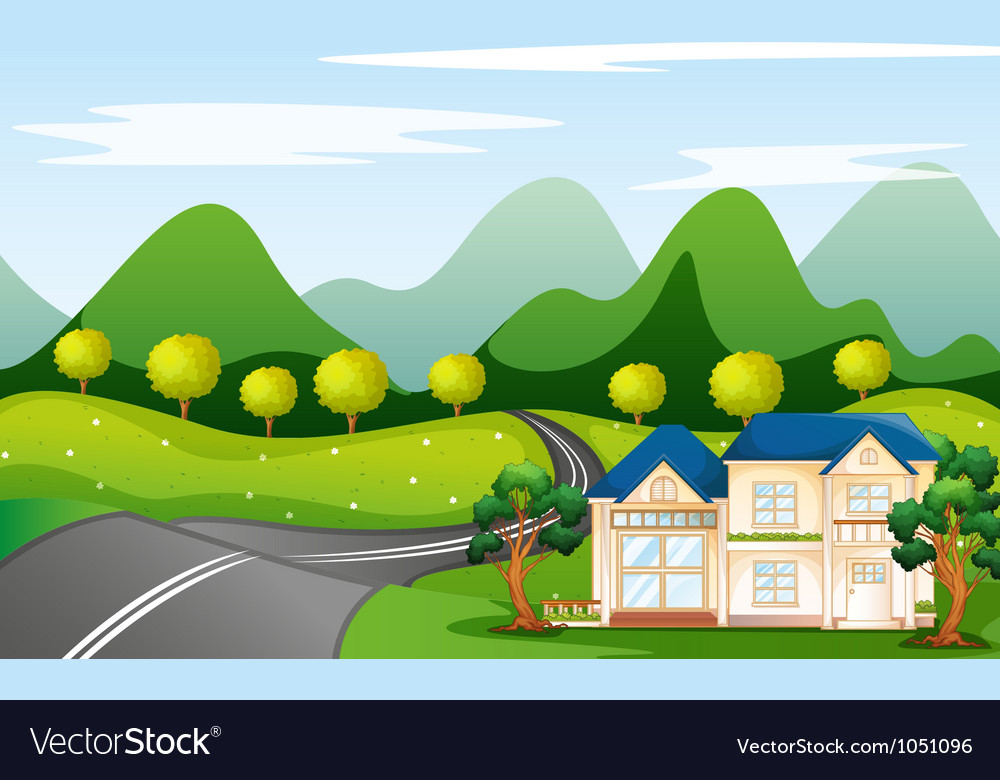 House in nature vector | Price: 3 Credit (USD $3)