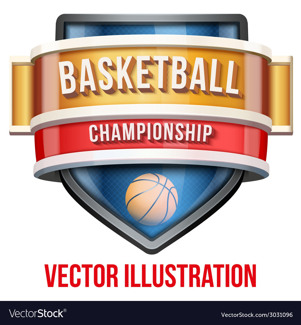Label for basketball sport competition bright vector | Price: 1 Credit (USD $1)