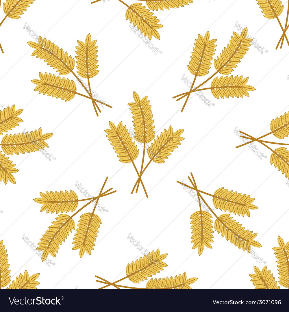 Seamless pattern of barley or wheat ears vector | Price: 1 Credit (USD $1)