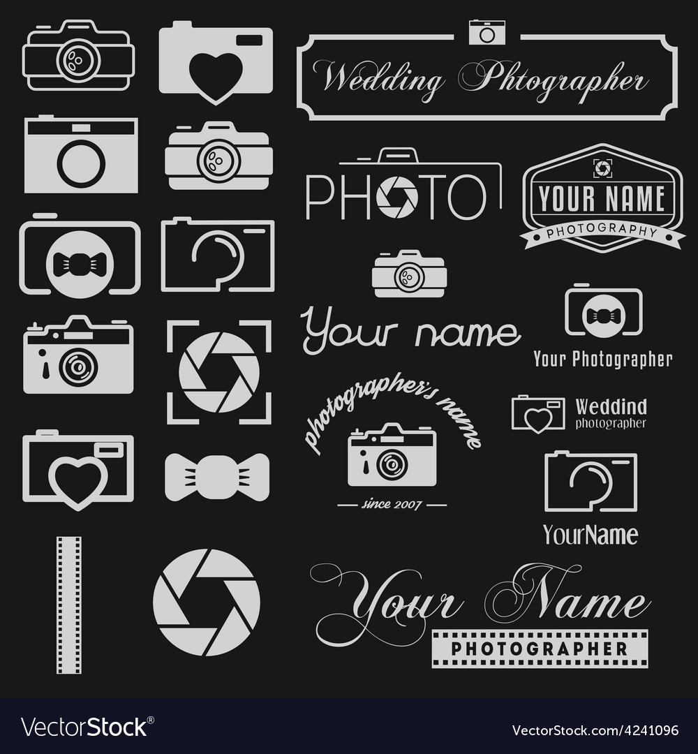 Set of logo and logotype elements for photoraph vector | Price: 1 Credit (USD $1)