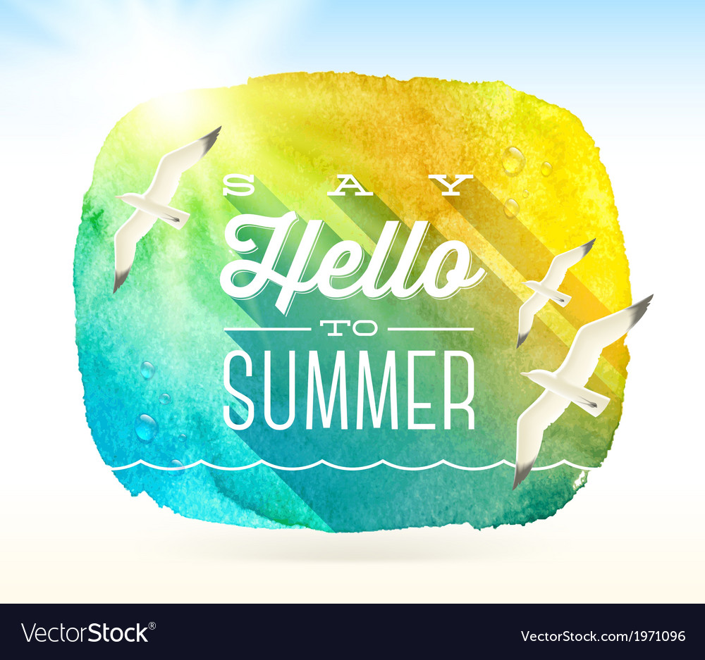 Summer card design vector | Price: 1 Credit (USD $1)