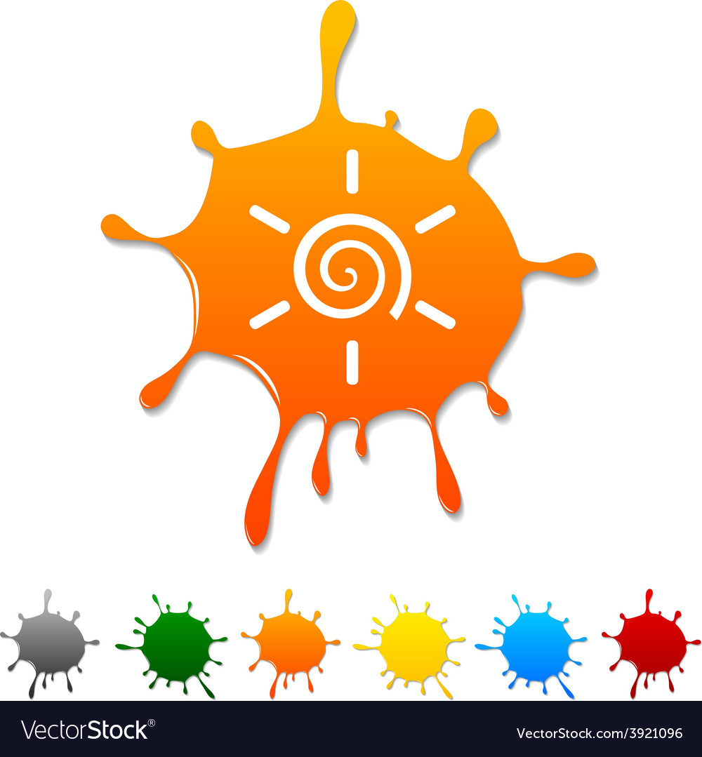 Sun blot vector | Price: 1 Credit (USD $1)