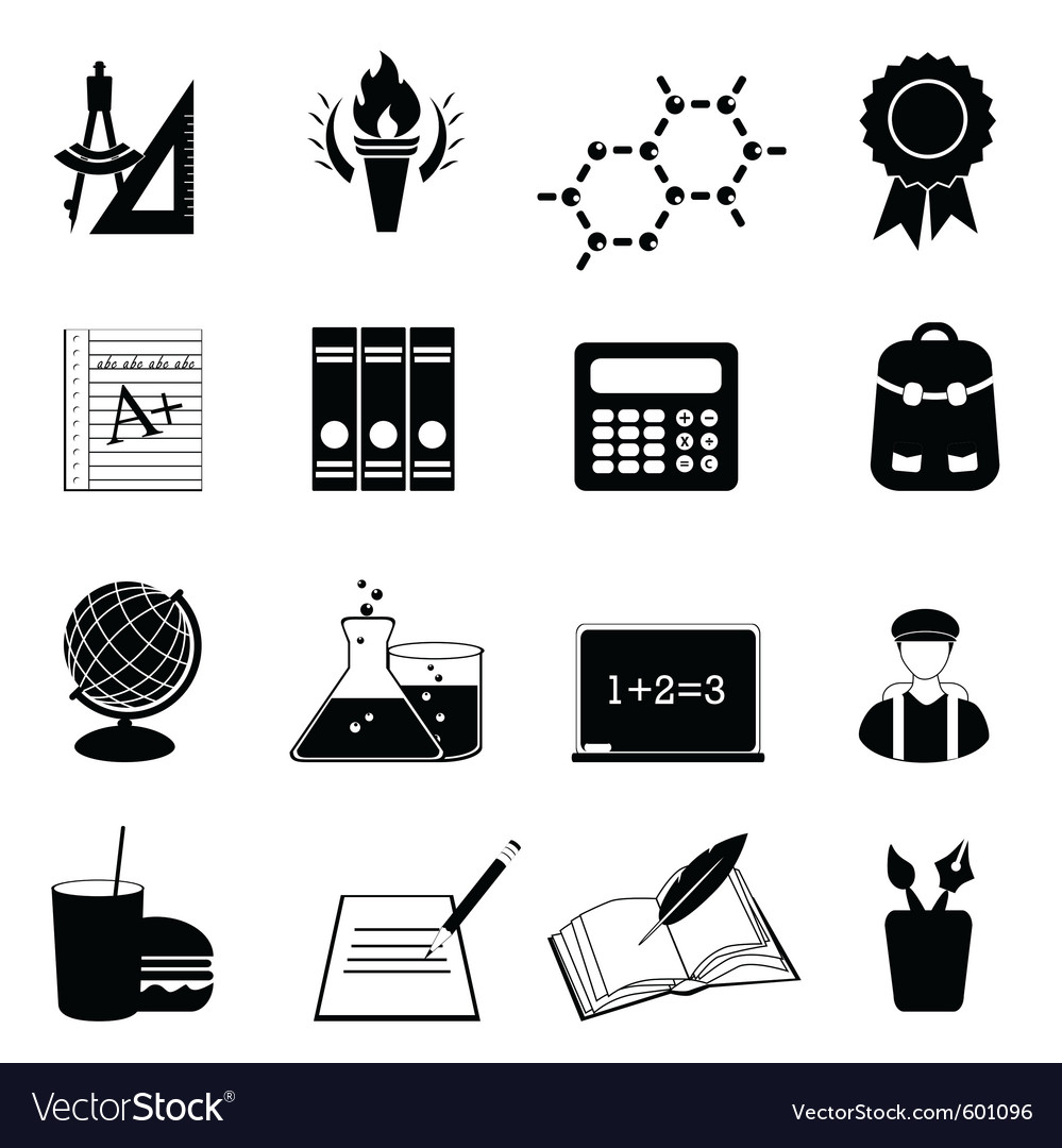 University icons vector | Price: 1 Credit (USD $1)