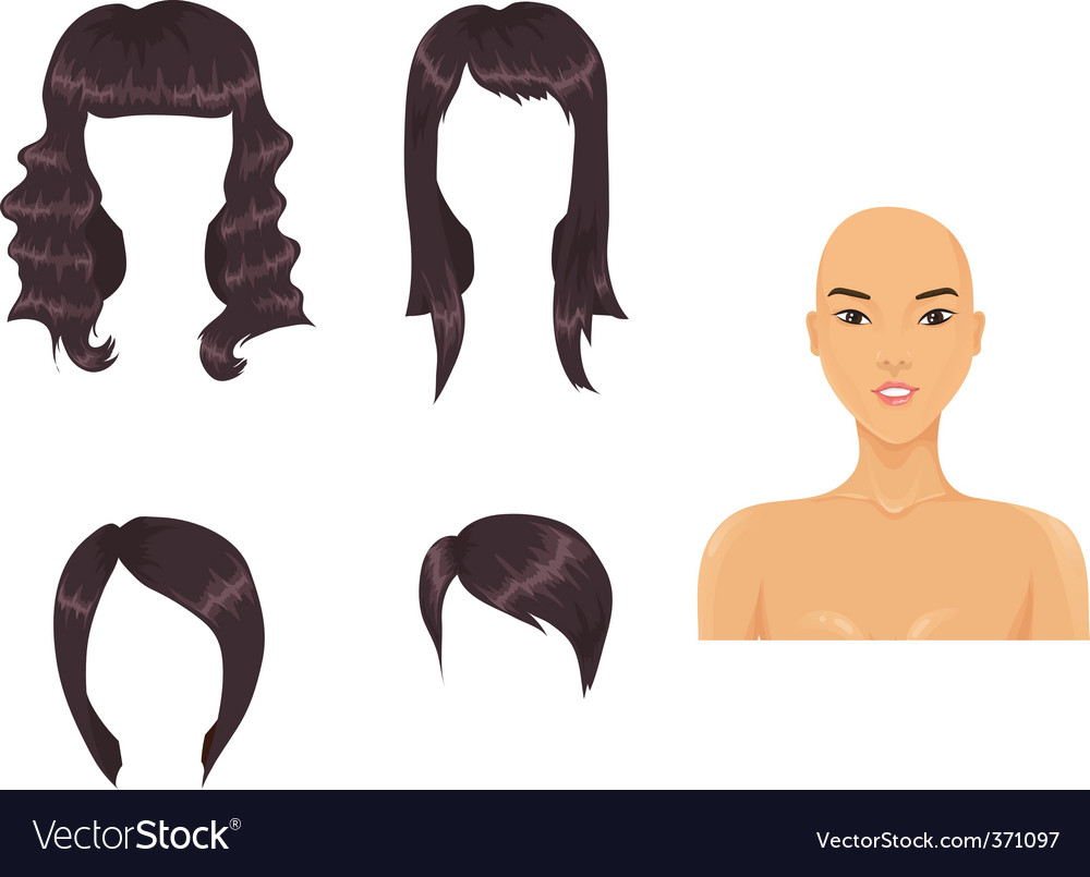 Asian hair vector | Price: 1 Credit (USD $1)