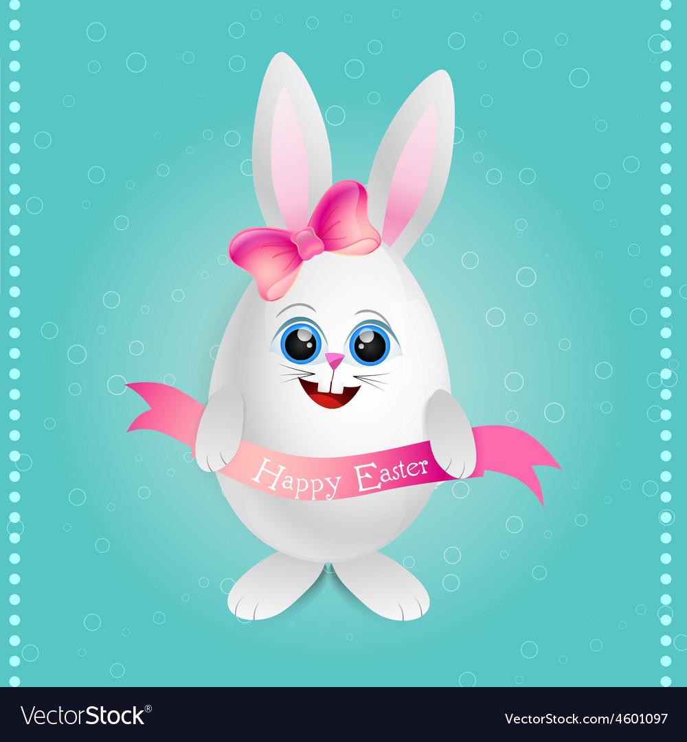 Cute female rabbit vector | Price: 1 Credit (USD $1)