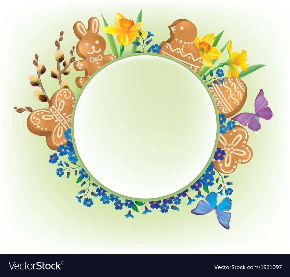 Easter vignette vector | Price: 1 Credit (USD $1)