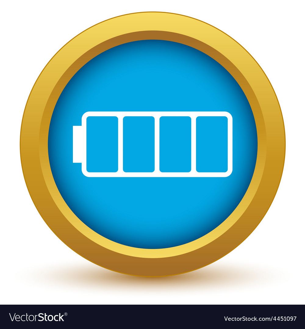 Gold empty battery icon vector | Price: 1 Credit (USD $1)