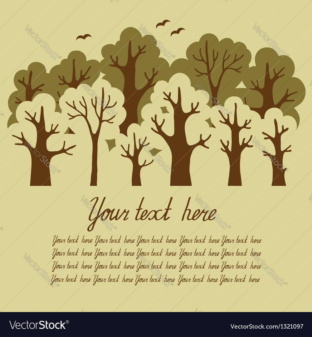 Green deciduous forest vector | Price: 1 Credit (USD $1)