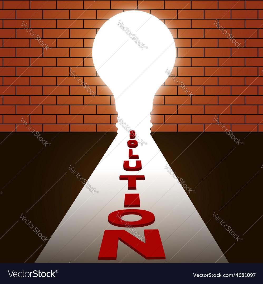 Idea make solution idea concept vector | Price: 1 Credit (USD $1)