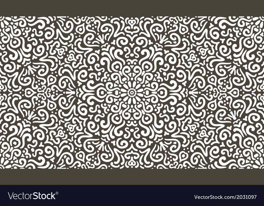 Intricate fantasy contrast seamless pattern vector | Price: 1 Credit (USD $1)