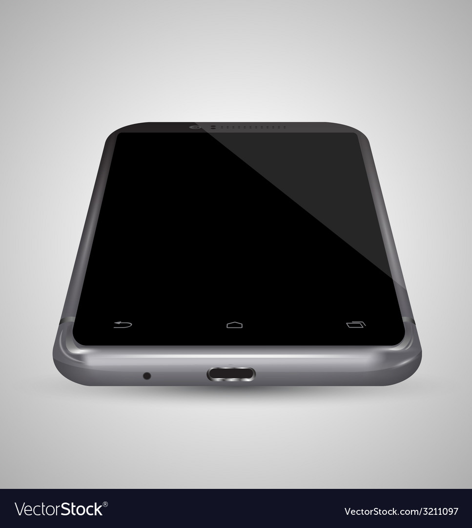 Perspective front smartphone vector | Price: 1 Credit (USD $1)