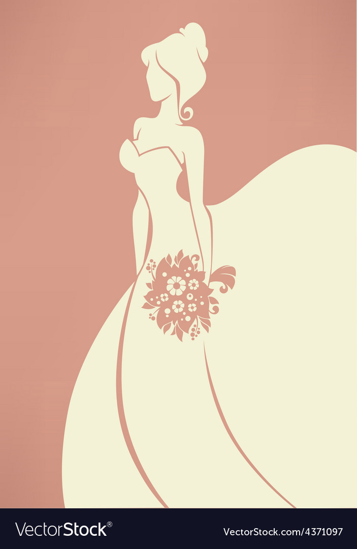 Romantic bride vector | Price: 1 Credit (USD $1)