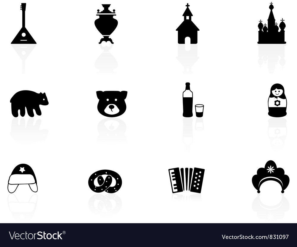 Russian icons vector | Price: 1 Credit (USD $1)