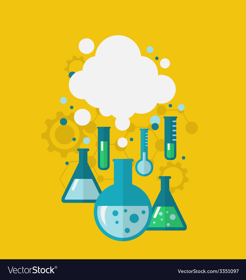 Template of chemical experiment showing various vector | Price: 1 Credit (USD $1)
