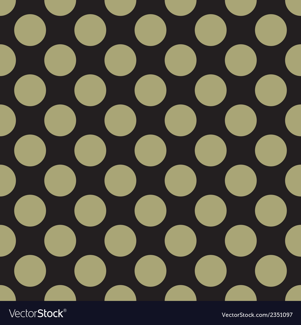 Tile pattern green polka dots on black background vector | Price: 1 Credit (USD $1)