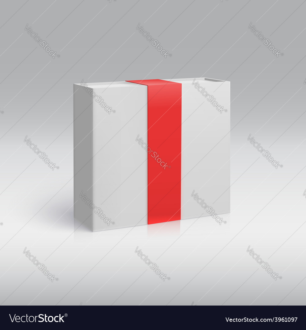 Vertical box with red ribbon vector | Price: 1 Credit (USD $1)