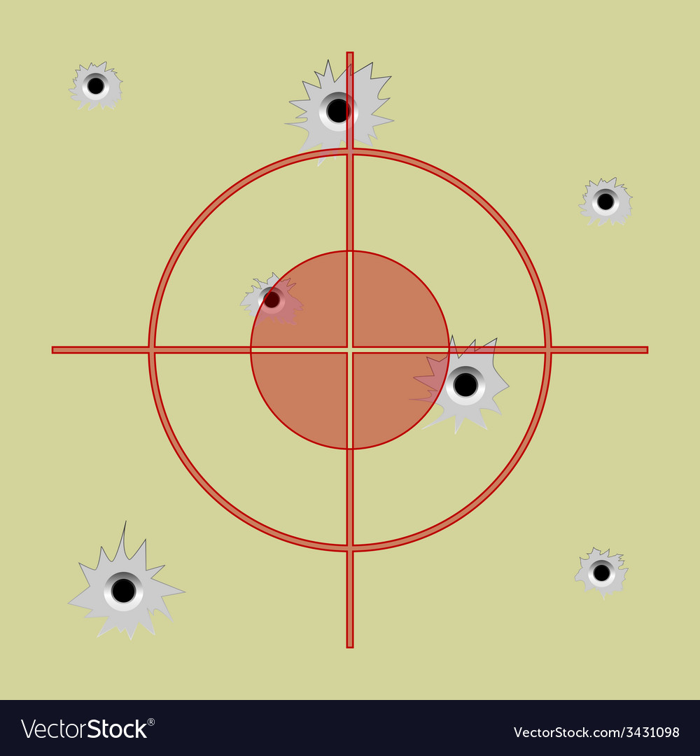 Bullet hole vector | Price: 1 Credit (USD $1)