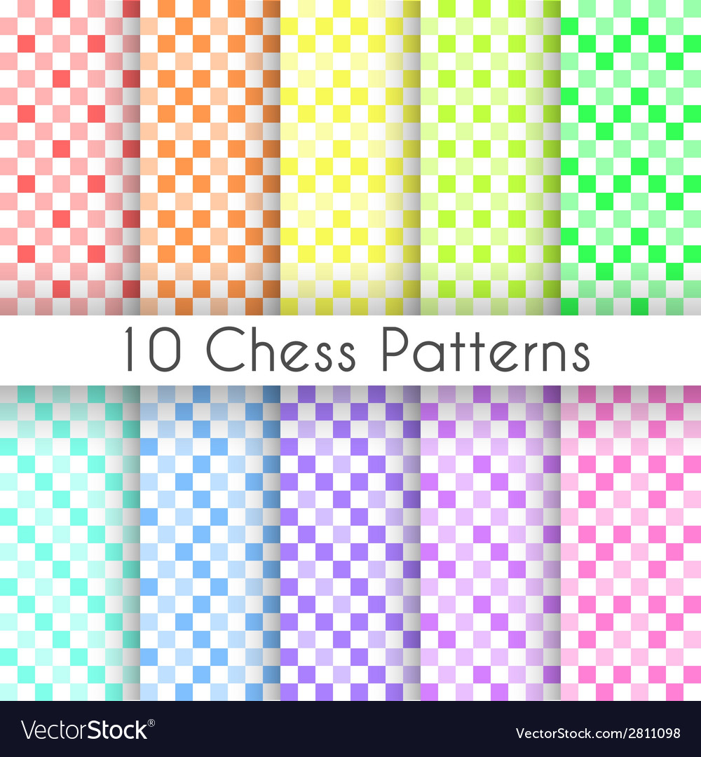 Chess plaid seamless patterns endless texture vector | Price: 1 Credit (USD $1)